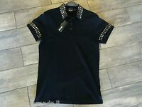 JUST CAVALLI Men's Polo Shirt New Collection S03GC0205 Black - New With Tags