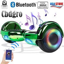 "6.5"" Hoverboard Bluetooth Electric Self Balance Scooter with Bag Chrome Green"