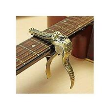 Silenceban Gold Yellow Crocodile trigger capo Guitarist presents gift bag...
