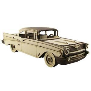 36cm Large Wood Chevrolet Bel Air 1957 3D Model/Puzzle Car, Great Unique Gift