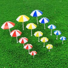 TYS11001 15pc Model Train Sun Umbrella Parasol 1:50-1:200 O-Z Garden Sea Beach