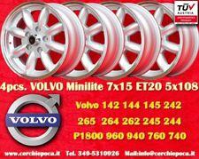 4 Cerchi Volvo  100, 200, 700, 900 7x15 5x108  N.4 Wheels Felges Llantas Jantes