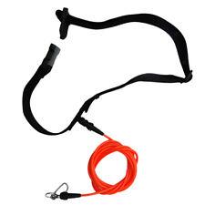 Surfboard Leash Stretch Cord Tether Swim Trainer Belt Water Sport Accessories