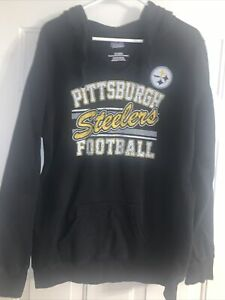 Pittsburgh Steelers NFL Women's Majestic Fan Fashion Hooded Sweatshirt Size XL
