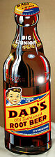 GIANT Dad's Die-Cut Root Beer Bottle-Awesome Color & Graphics-Porcelain Look