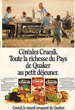 PUBLICITE ADVERTISING   1988   QUAKER    céréales au petit déjeuner
