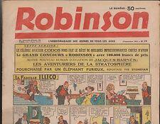 ROBINSON n°19 du 6 septembre 1936. Mandrake, Guy l'Eclair...