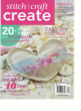 STITCH CRAFT CREATE, WINTER, 2013 ( 20 + SWEET IDEAS FOR A HANDMADE VALENTINE'S