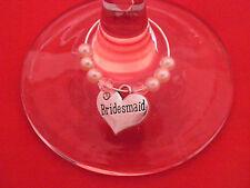 """ Bridesmaid ""  Wine Glass Charms www.libbysmarketplace.com - FREE P&P"