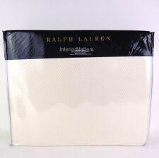 RALPH LAUREN PALMER KING BED BLANKET Regatta Cream Ivory cotton NEW $255