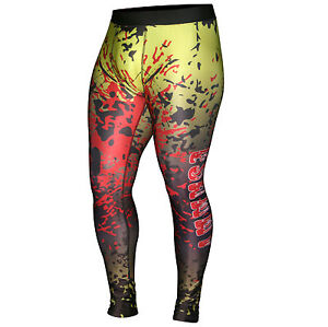 Mens Sublimated Thermal Compression Pants Running Gym Stretchable Tights Trouser
