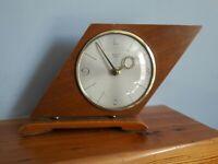 stylish retro wooden mantel clock