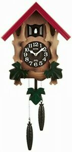 Rhythm Cuckoo Wall Clock COCKOO MELVILLE R Brown 4MJ775RH06 Wood 4903456196067