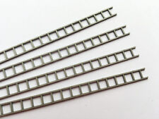 LASER CUT SILVER PLASTIC LADDER STRIPS OO GAUGE 1:76 MODEL RAILWAY - LX060-OO