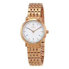 DKNY Minetta White Dial Ladies Rose Gold Tone Watch NY2511