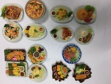 thai street food miniature  handmade  collective vareity set of random 15 pcs