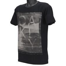 Oakley SHUTTER T-Shirt Size M Medium Black Logo Graphic Mens Boys Slim Fit Tee