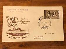 Israel 1954 RMS CARONIA Cruise in Haifa Harbour Cover
