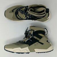 Nike Air Huarache Gripp Run Zip Olive Green Black AO1730-200 Men's Shoes