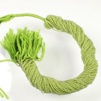 """Natural Green Peridot faceted rondelle micro beads 2mm AAA Quality 13"""" Strand"""