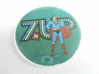 "VINTAGE 3"" PROMO PINBACK BUTTON #99-040 - SUPERMAN - 7UP SODA ADVERTISING"