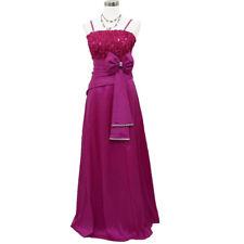 8a9892726f Robe de soirée longue rose fuchsia ornée dentelle et strass taille 36/38