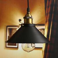 Rustic Industrial Vintage Metal Shade Pendant Light Hanging Ceiling Lamp Fixture