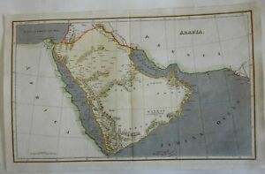 Arabia Middle East Hejaz Mecca Medina Aden Socotra c. 1815 Arrowsmith map