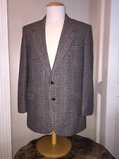 Mens 44R •Oakton Ltd. >Tweed/Plaid Sports Jacket•Gray,Brown,Excellent Condition