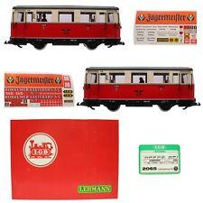 Lehmann LGB Tram Railcar Wismarer Doppeltriebwagen 2065 Gauge G Sealed