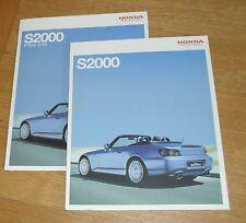 Honda S2000 Roadster Brochure Set 2007-2008 - 2.0 VTEC Roadster & GT With Prices