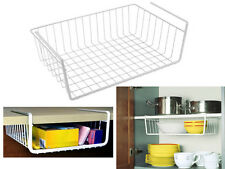 NEUF 2 x étagère de cuisine en rack de stockage Titulaire paniers sous étagère panier de maille