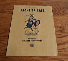 Vintage Stan Bennett's Frontier Cafe Restaurant Menu Sterling Colorado