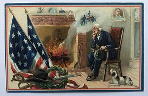 Decoration Day Series #158 Patriotic Embossed Raphael Tuck Postcard;K007