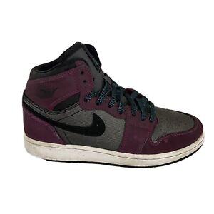 Nike Air Jordan 1 Retro High GG Purple Gray 332148-505 Youth Size 4Y Old School