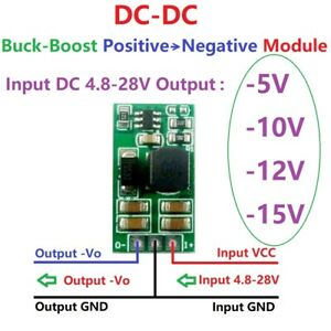 +5V-28V to -5V -10V -12V-15V  +/- Voltage DC DC Boost-Buck Converter OP ADC LCD