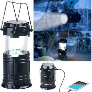 Lanterne de camping solaire à LED 80 lm avec fonction batterie de secours USB -