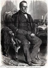 Torino Capitale: Camillo Benso,conte di Cavour.Grande Ritratto.Risorgimento.1861