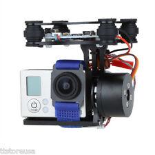 CNC FPV BGC 2 Axis Brushless Gimbal w/Controller for GoPro 3 DJI 1 2 Black US