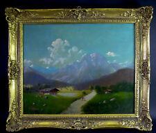 Otto Franz WIEDUWILT( 1841-1930 München )  Gebirgslandschaft mit Gehöft