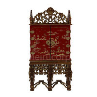 Dollhouse miniature furniture 1/12 scale red Hand painted Collection cabinet