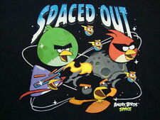 Angry Birds Tablet App Video Game Spaced Out Funny Humor Black T Shirt XL