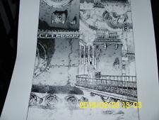 GUY DAVIS original art, Rhapsody in Blue  autographed numbered never framed RARE Comic Art