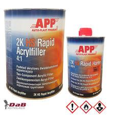APP 2K HS Rapid Acryl Füller 4:1 inkl. Härter | 5,0 Liter-Set Grundierung grau
