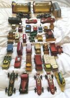 Dinky Corgi Spot On & Lesney Matchbox Job Lot Of 37 Vehicles Including Boxed