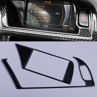 2X Navigation Navi GPS Panel Verkleidung Rahmen Abdeckung für Audi A4 A5 S4 S5