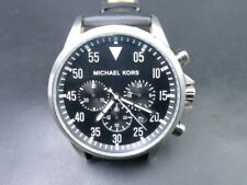 NEW OLD STOCK MICHAEL KORS GAGE MK8442 BLACK FACE CHRONOGRAPH QUARTZ MEN WATCH