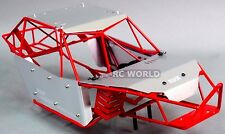 AXIAL WRAITH RR10 BOMBER All Metal FRAME BODY ROLL CAGE  w/ Metal Sheets RED