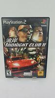 Midnight Club II (Sony PlayStation 2, 2003) Ps2 Racing No Manual