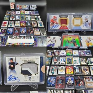 HUGE PATCH AUTO RPA PRIZM GRADED SELECT JERSEY ROOKIE SPORTS CARD COLLECTION LOT